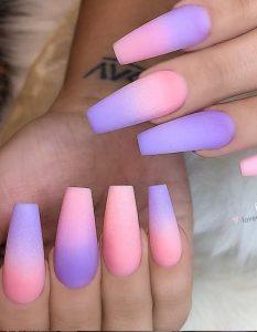 feminine ombre colors