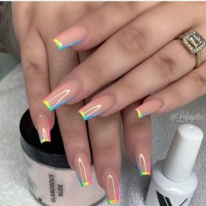 ombre rainbown french