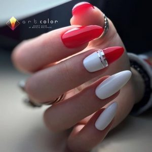white modern meets red