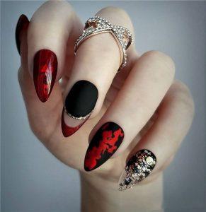 black red clear stiletto