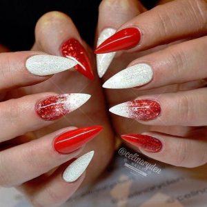 xmas stiletto red white