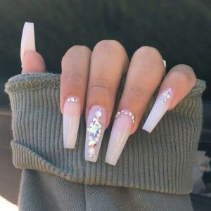 glam stones on white