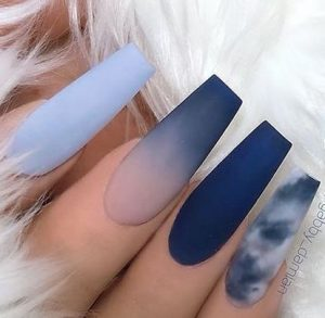 blue ombre shades matte