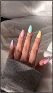 solid pastel acrylics summer