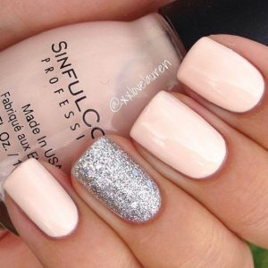 neutral silver glitter