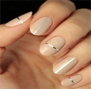 neutral metallic stripe