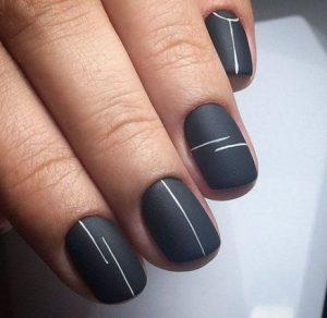 matte black striping simple