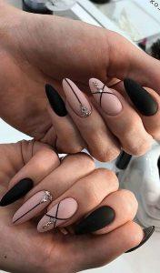 nude matte black stripes