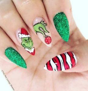 grinch nails acrylic