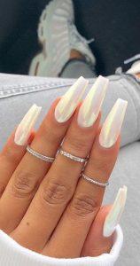 iridescent white design