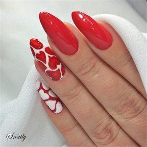 artsy hearts red