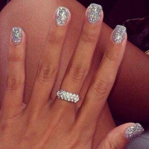 solar glitter silver