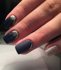 solar nail black design