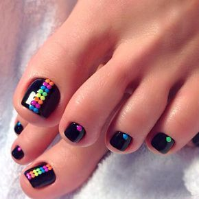 colorful dots down center