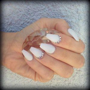 solid white matte stones