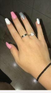 girly solar nails