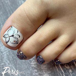 glitter flutter toes