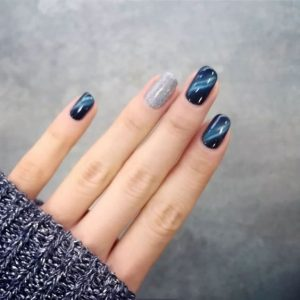 blue silver magnetic