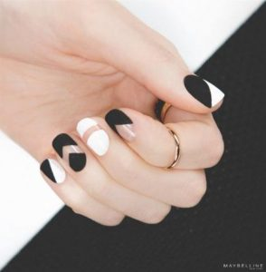matte black and white with clear