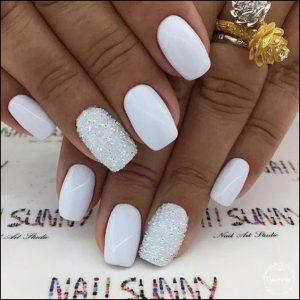 monochrome glitter white