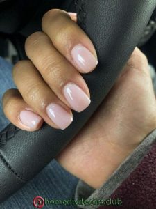 pale pink solar nails