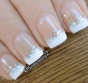 touch of glitter french