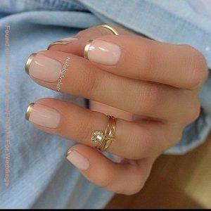chrome tipped solar nails