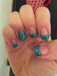 glitter tipped solar nails