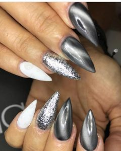 silver metallic cat eye
