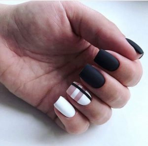 clear check black white matte