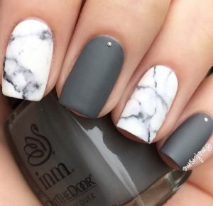 white matte marble with grey