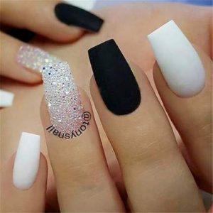 black stones white matte