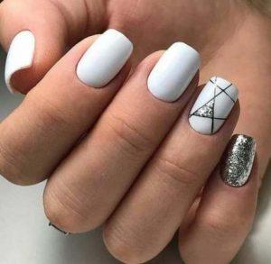 black stripes glitter white