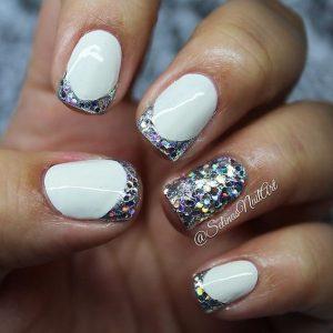 big glitter shape tips