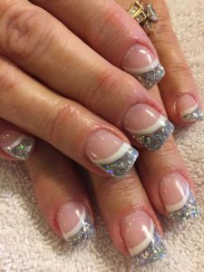 exaggerated tip solar nails