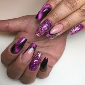 magnet purple glitter