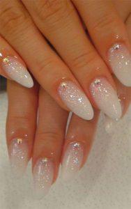 white sheer glitter