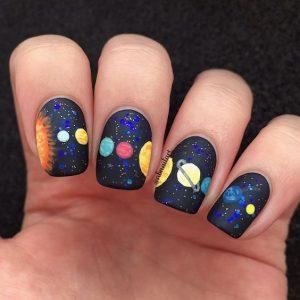 planet solar nails