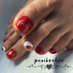 red love pedicure
