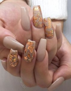 taupe foiling gold