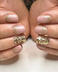 nude shimmer gold