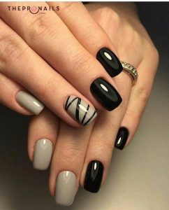 zigzag taupe nails