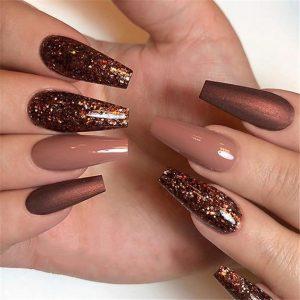 brown textures glitter matte