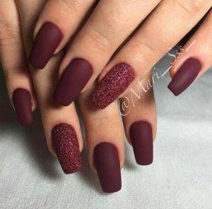 dark red glam