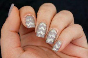 taupe glitter chevron design