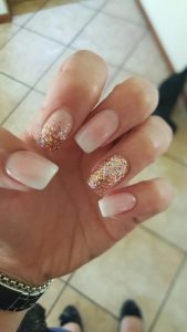 modern french with glitter gold
