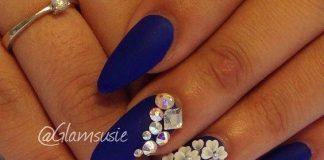 white flower stones on blue