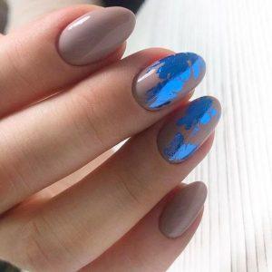taupe metallic blue