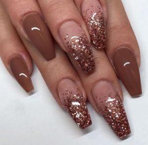 brown fall ombre glitter