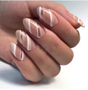 taupe striping white